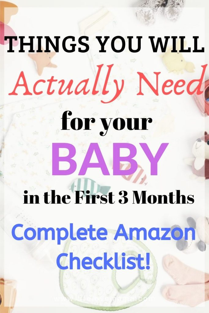 things you will actually need for your baby sin the first few month