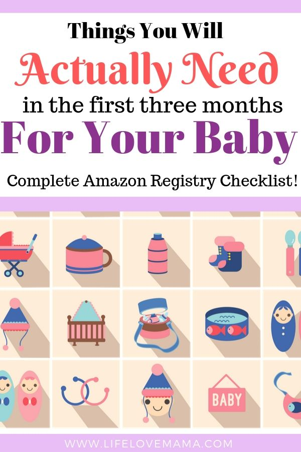 things you will actually need for your new baby/new baby amazon checklist