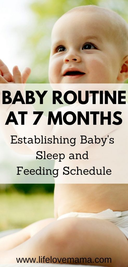 baby feeding and sleeping schedule and routine at 7 months old