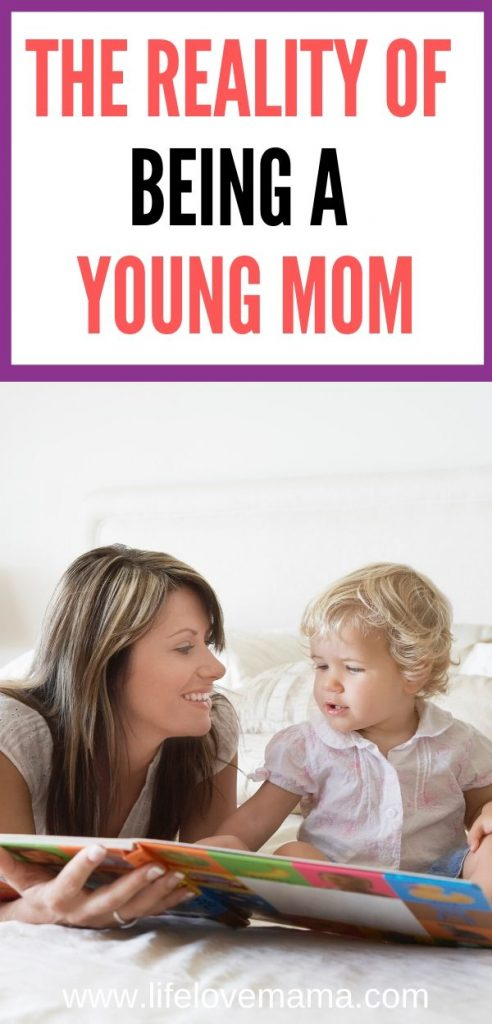 being a young mom with a baby/the reality of be a young mom