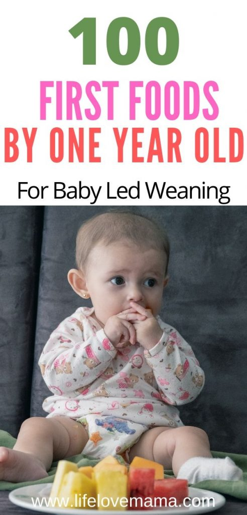 first foods list for baby led weaning