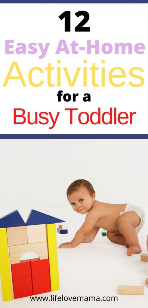 easy at home activities for a busy toddler