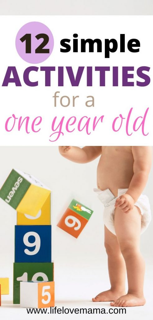12 simple activities for a one year old