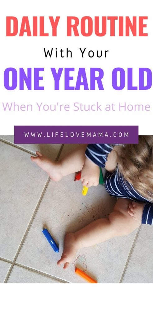 daily schedule and routine with your one year old