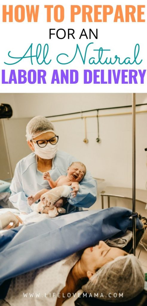 preparing for an all natural labor and delivery in the hospital giving birth