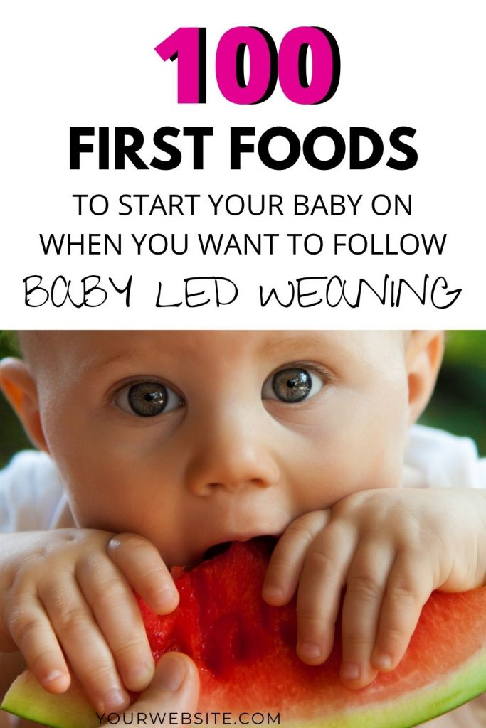 baby eating a watermelon slice during baby led weaning
