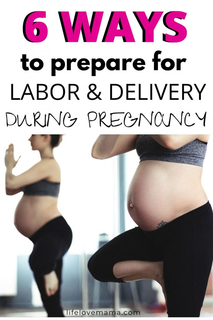 pregnant woman preparing for labor and delivery