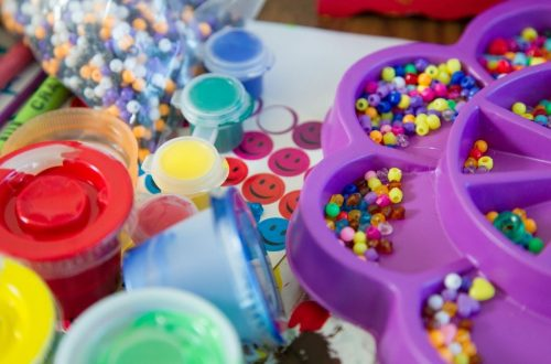 paint, beads, activities for toddlers